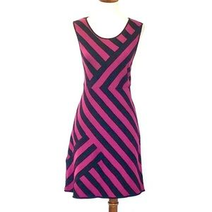 Alice + Olivia Sleeveless Striped Wool Dress